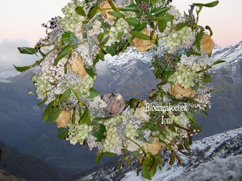 Kerstkrans met Mistletoe/bloemist
