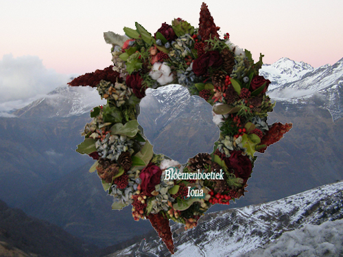 Kerst deurkrans bloemenwinkel