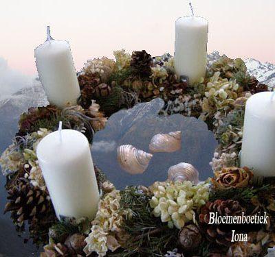 Adventskrans met kaarsen bezorgen