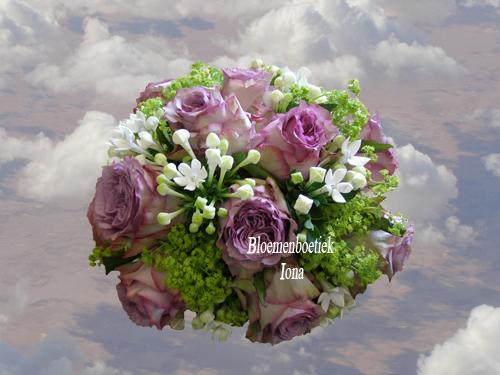 Bruidsboeket paars wit bestellen