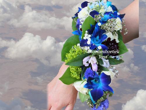 Orchideeen armband Bloemenboetiek Iona