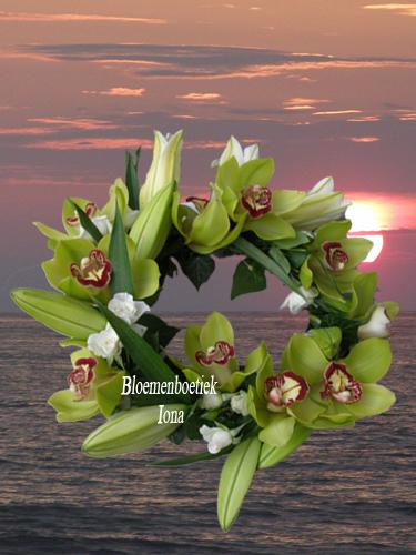 Lelie orchidee krans