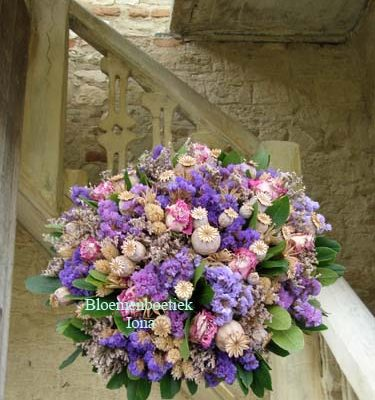 Droogstuk wit paars roze bestellen