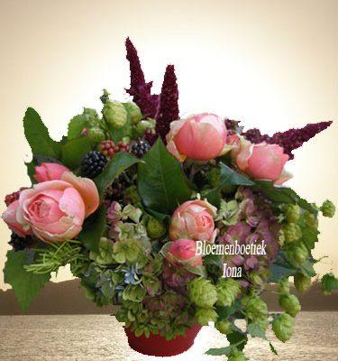 Herfst bloemstuk Bedankje