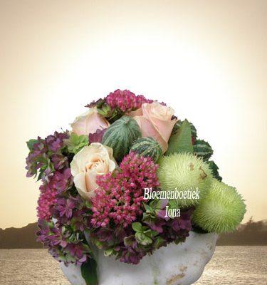 Pepoenen bloemstuk
