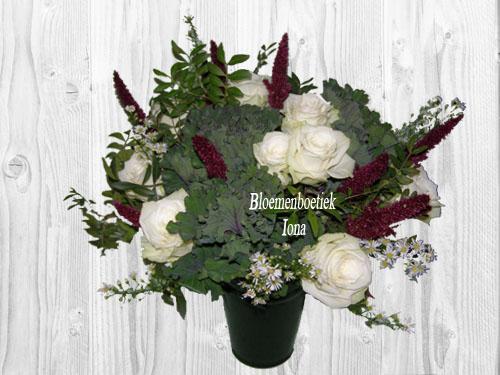 Herfstboeket wit paars