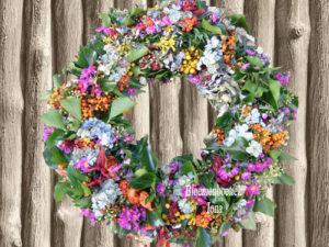 Bloemenkrans vers als droog bestellen Velsen