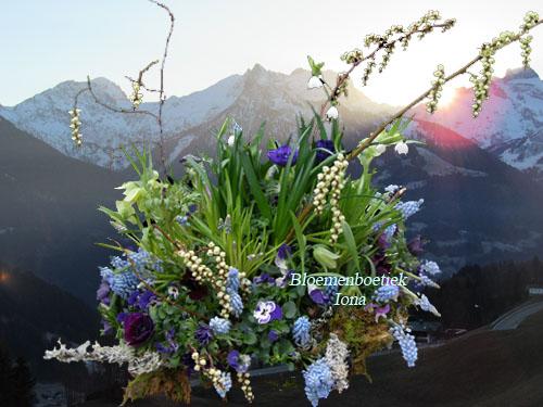 Afscheid bloemstuk bestellen Bloemendaal