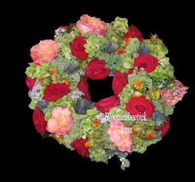 Rouwkrans bestellen bij de bloemist