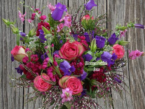 roze paars boeket Haarlem