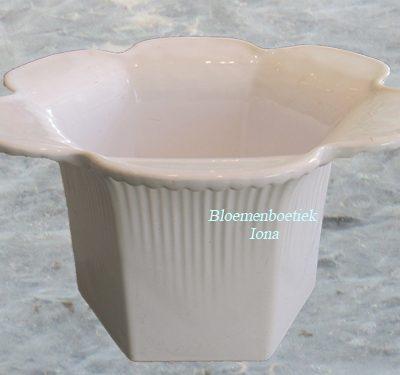 Wit bloemvorm bloempot bestellen