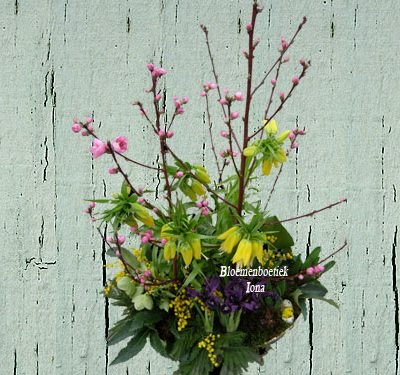 Keizerskroon bloemstuk/Bloemenboetiek Iona