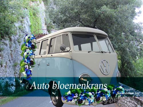 auto bloemenkrans bloemenboetiek Iona
