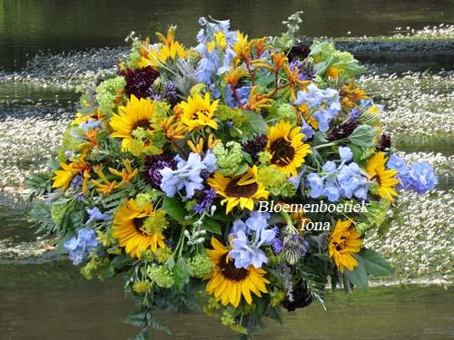 Begrafenis bloemstuk