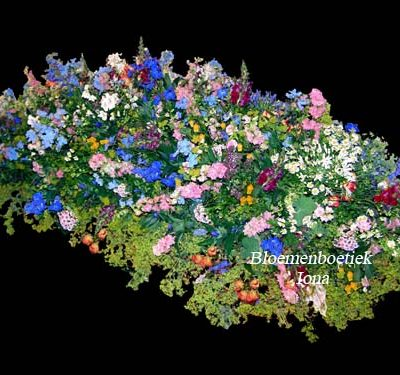 Bloembed bestellen bij bloemenboetiek Iona