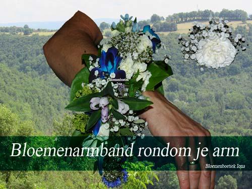 bloemenarmband bestellen bij bloemist
