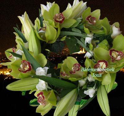 Hoofd bloemenkrans