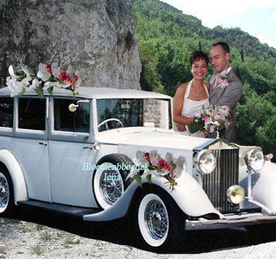 Bruidsboeket, corsage, Autobloemen bestellen Santpoort