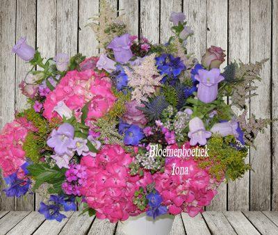 Najaarsboeket hortensia boeket