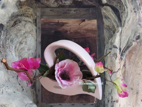 Zijde Bloemen opgemaakt in Hart bestellen Bloemendaal