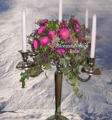 kandelaar met bloemen bestellen