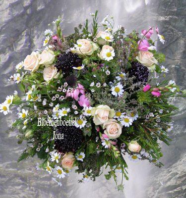 Beterschap bloemstuk bestellen Santpoort