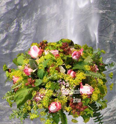Bedankje in een vorm van een bloemstuk