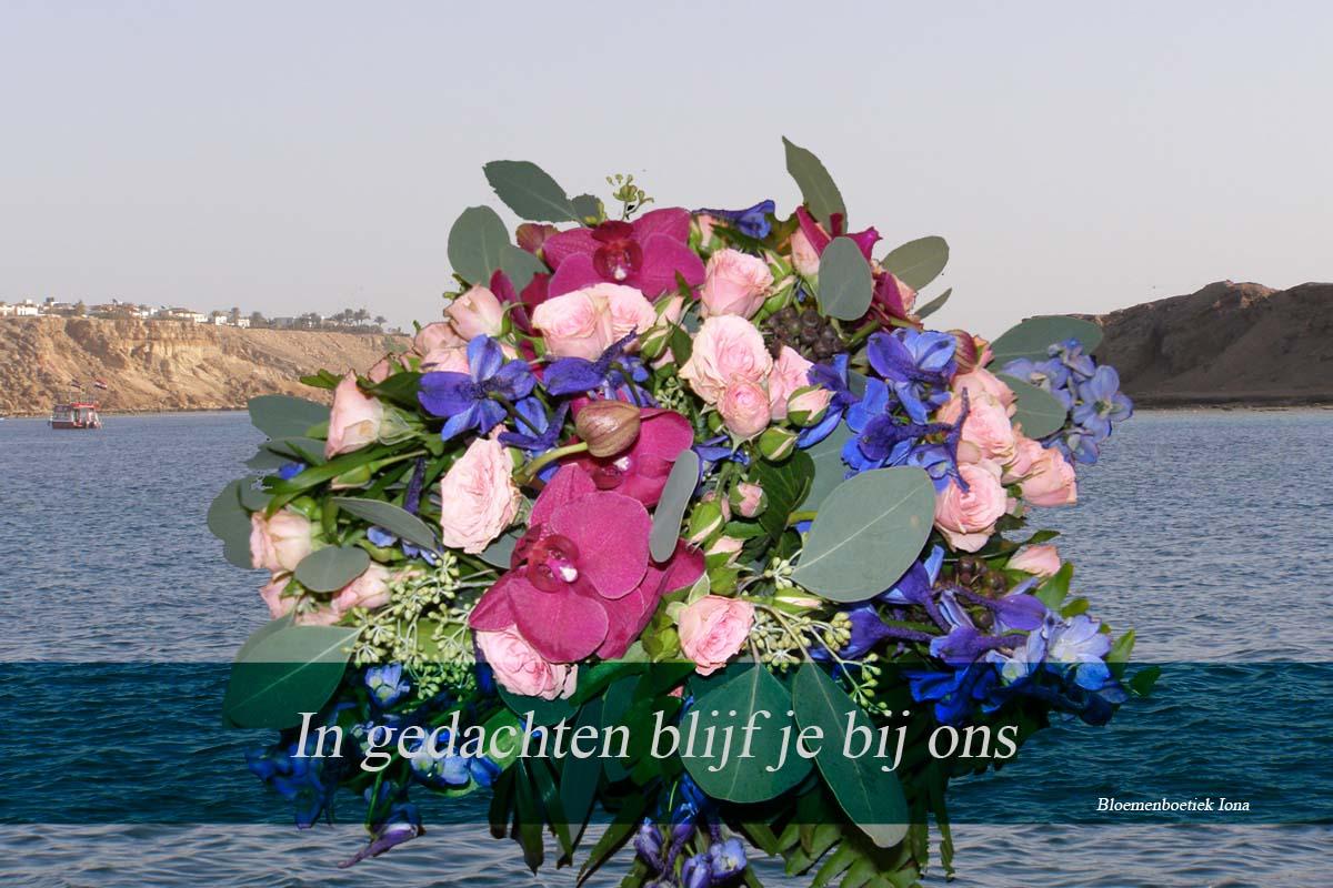 In-gedachten-blijf-je-bij-ons /bloemenboetiek Iona Haarlem