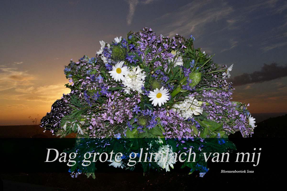 Dag-grote-glimlach-van-mij/bloemenboetiek Iona