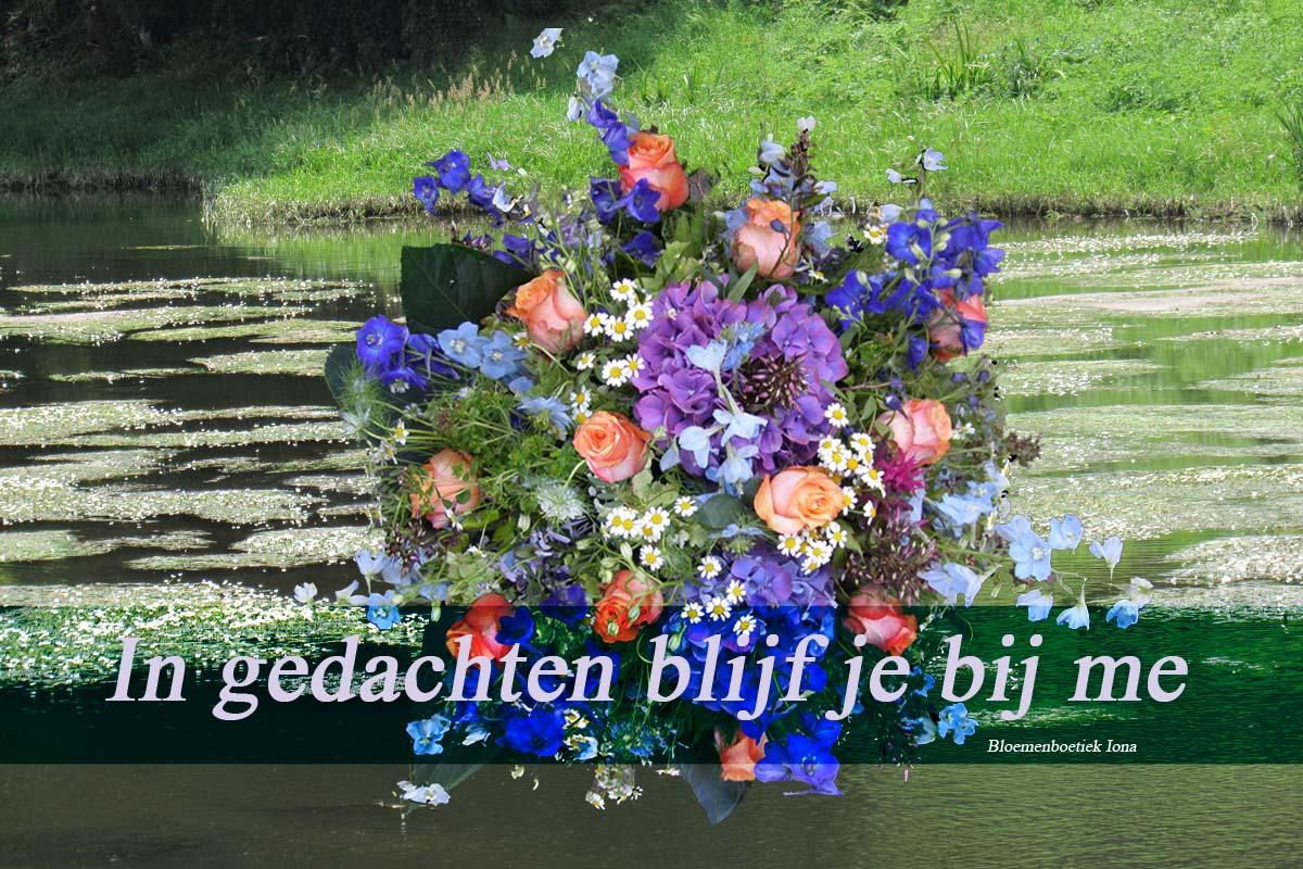 In-gedachten-blijf-je/bloemenboetiek Iona