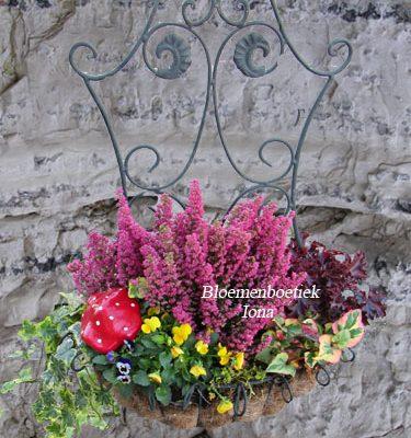 Brocante mand met herfstplanten bestellen