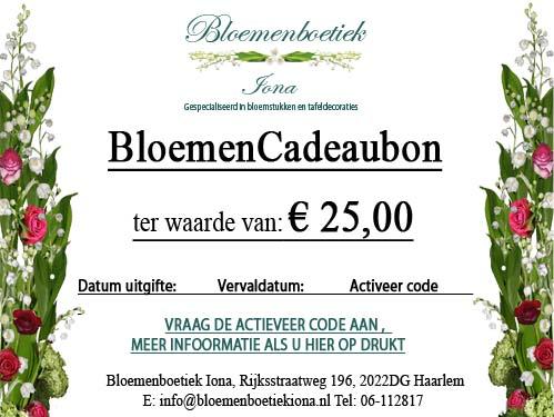 Bloemencadeaubon/Haarlem