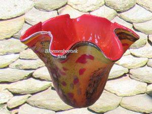 hand geblazen rouw vaas bestellen