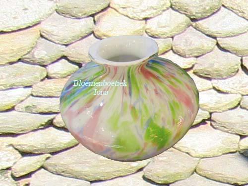 gekleurde-pastel-glazen-vaas